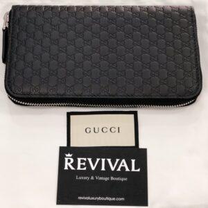Gucci Portafoglio Zip Continental Nero Guccissima