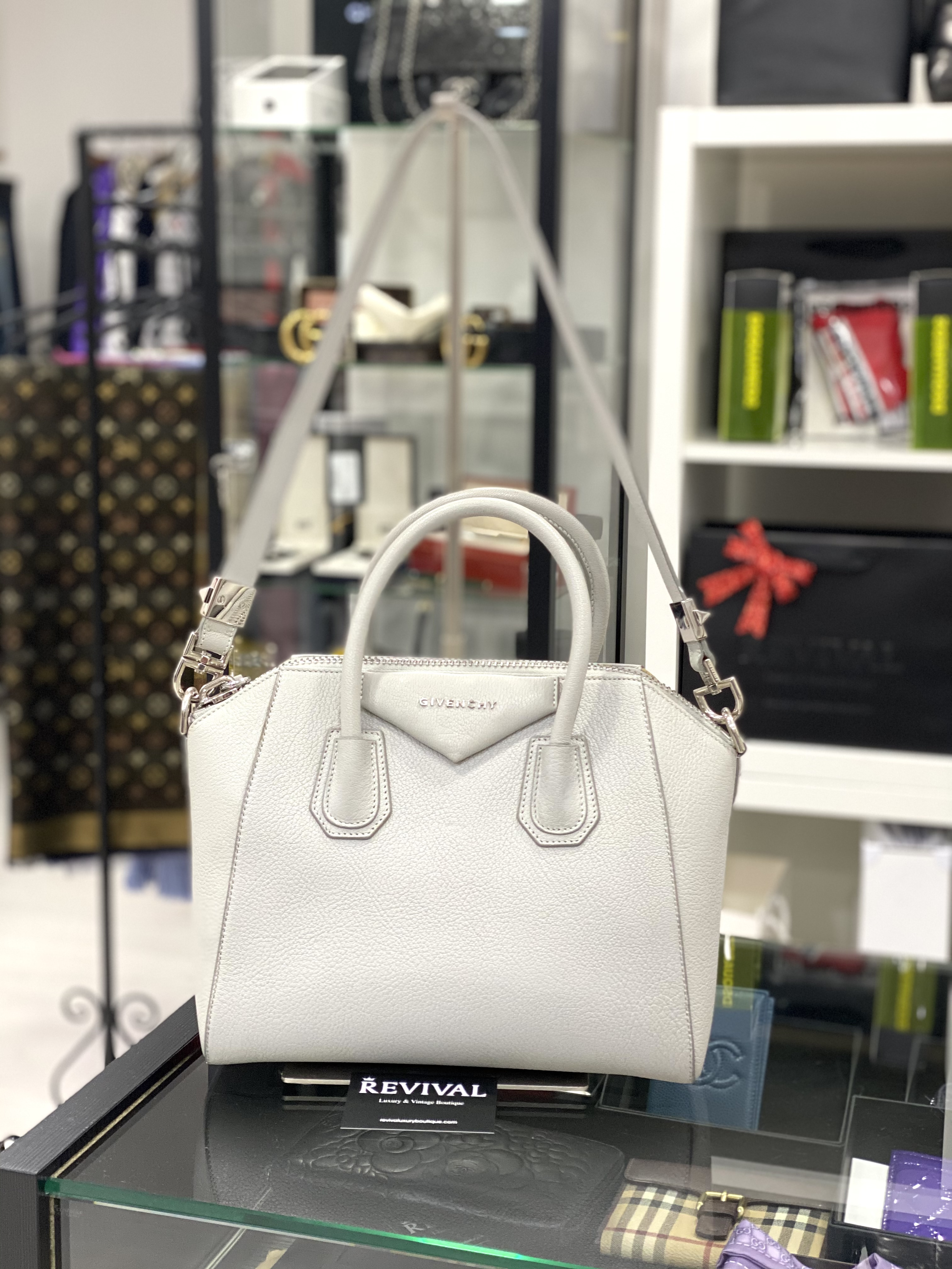 Givenchy Antigona borsa a mano Media Grey